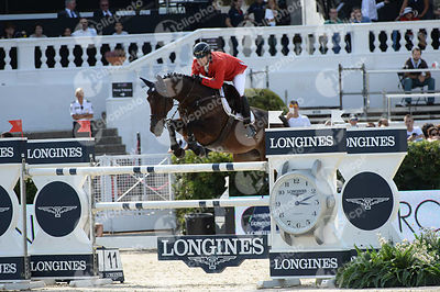 Juan ORTIZ ,(VEN), D ULIEN VAN DE SMEETS during Longines Cup of the City of Barcelona competition at CSIO5* Barcelona at Real Club de Polo, Barcelona - Spain