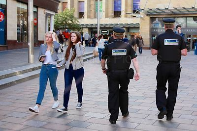 Saferglasgow Community Enforcement Officers Patrol Buchanan Street in Glasgow