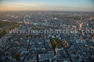 London. Aerial view of Mayfair