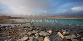 Karakul Lake and Kongur Mountain, near Kashgar (Kaxgar), West China