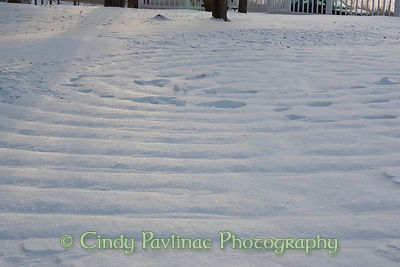 Labyrinth Paths in Snow