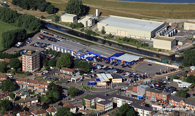 Kings Head Hill and Sewardstone crossroads in Chingford London showing the Motorpoint car supermarket