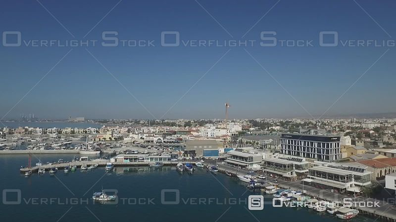 Limassol Old Port Marina Drone Video Cyprus