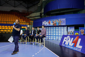 during the Final Tournament - Final Four - SEHA - Gazprom league, Handball discussion in Brest, Belarus, 06.04.2017, Mandatory Credit ©SEHA/ Stanko Gruden