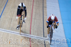 Master Women Sprint 3-4 Final. Canadian Track Championships, Mattamy National Cycling Centre, Milton, On, September 25, 2016