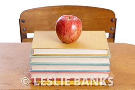 Books on School Desk