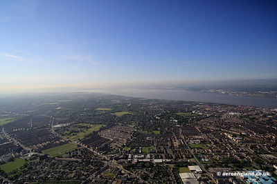 aerial photograph of Princes Park and vicinity in   Liverpool  Merseyside England UK