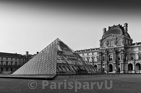 Pyramide du Louvre by JR Paris 1st