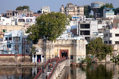Footbridge at Chand Pol, Udaipur, Rajasthan, India