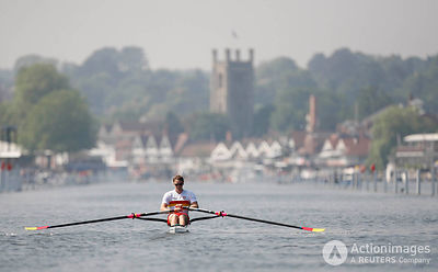 Rowing - Henley Royal Regatta - Henley-on-Thames - 2/7/09 Great Britain's Alan Campbell in action during the heats of the Diamond Challenge Sculls Mandatory Credit: Action Images / Steven Paston Livepic