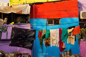 Clothes left to dry at Dhobi Ghat, a laundry district in Mumbai, India