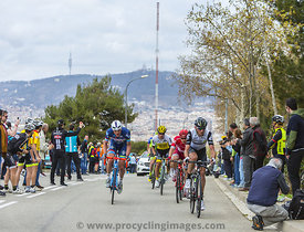 Group of Cyclists - Volta Ciclista a Catalunya 2016