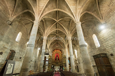 The gothic interior of the Motherchurch. Freixo de Espada à Cinta, Trás-os-Montes. Portugal
