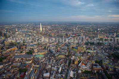 London. Aerial view the City of London