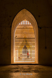 Looking through the windows at Ananda Temple in Bagan, Myanmar.
