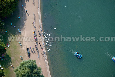 Aerial view of the Serpentine, Hyde Park