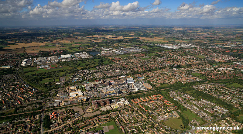 aerial photograph of Basildon Essex England UK