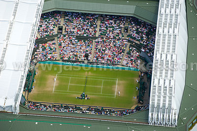 Aerial view of Centre Court at Wimbledon