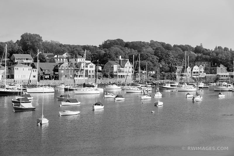 ROCKPORT CAPE ANN MASSACHUSETTS BLACK AND WHITE