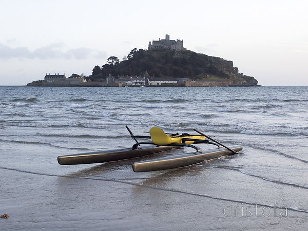 ROCAT #3 on the beach at Marazion
