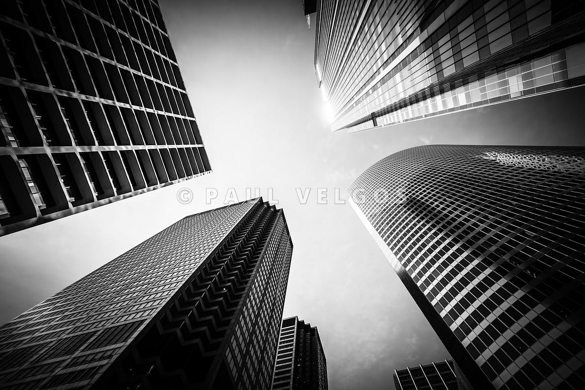 Chicago Architecture Black And White image: chicago architecture in black and white large canvas print