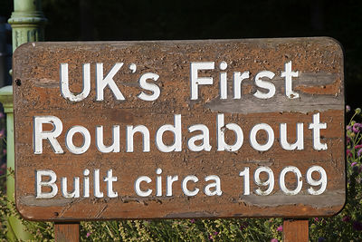 UK - Letchworth Garden City - Britains first roundabout built in c.1909