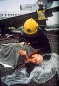 Air crash simulation - injured survivors