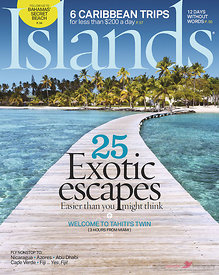 Cover for Islands magazine