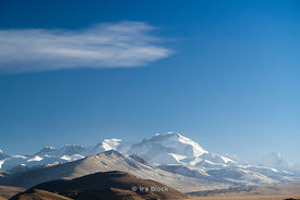 Cho Oyu Mountain, the sixth highest mountain in the world at 8,201 metres (26,906 ft) above sea level in Tibet.