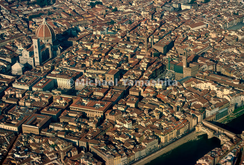 Aerial of Florence, Italy