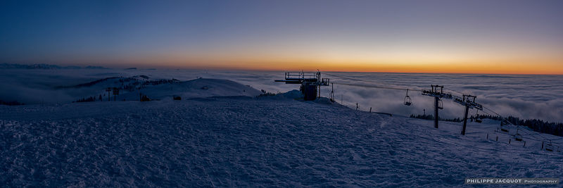 Winter Twilight on the Semnoz