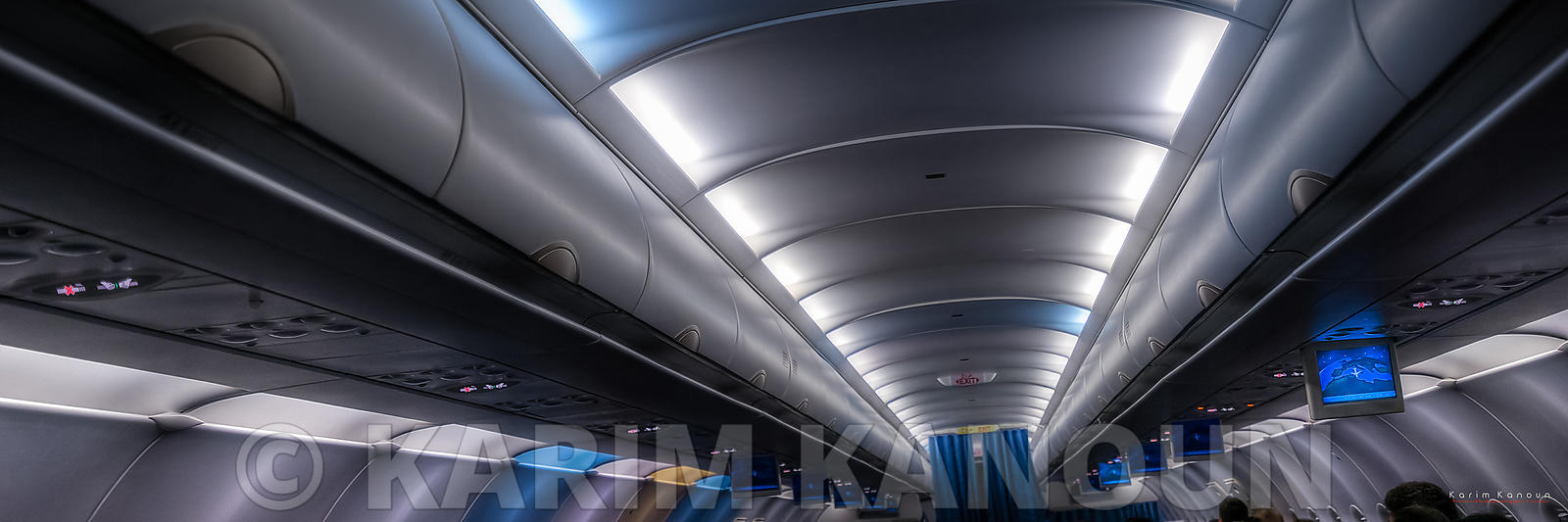 Panorama - Inside a futuristic airplane - Tunisair