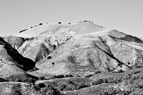 HILLS SANTA YNEZ VALLEY SANTA BARBARA COUNTY CALIFORNIA BLACK AND WHITE
