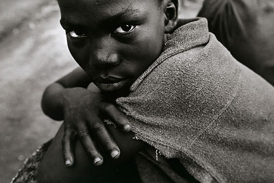Sierra Leone - Freetown - Face of a 14 year old war veteran.