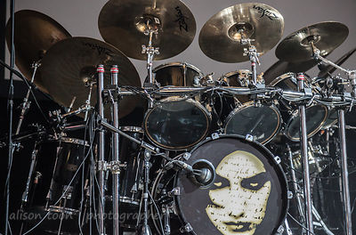 Ian Mosley's drum kit, Marillion, Wolverhampton UK, 2013