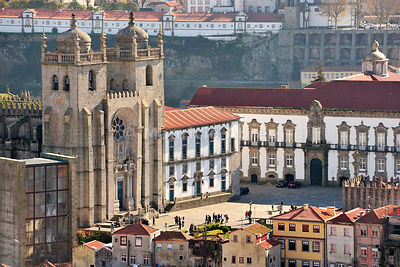 The Cathedral of Oporto, a Unesco World Heritage Site. Portugal