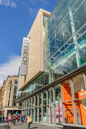 GLASGOW, SCOTLAND - JULY 05, 2016: St Enoch shopping centre at southern end of Buchanan Street in Glasgow.