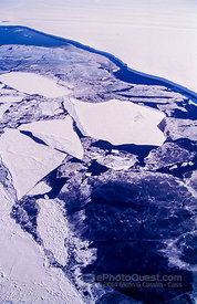 Aerial View of Ice-Edge and Bergs