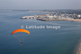 Paramotor Outside Port of Turballe, La Turballe