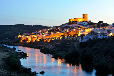 The historical village of Mértola, overlooking the Guadiana river. Guadiana Valley Natural Park, Alentejo, Portugal