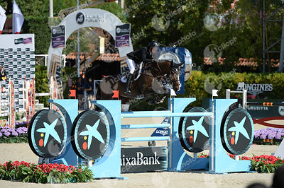 Gudrun PATTEET ,(BEL), SEA COAST PEBLES Z during Coca-Cola Trofey competition at CSIO5* Barcelona at Real Club de Polo, Barcelona - Spain