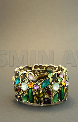 Bracelet with colorful glass elements