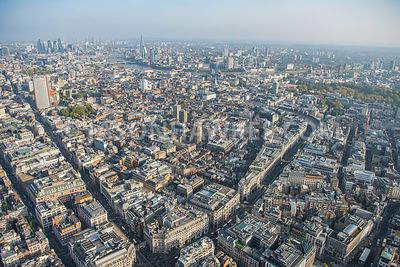 Soho, aerial view, London.
