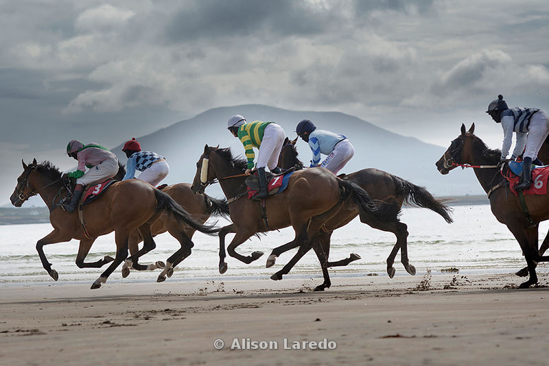 Doolough Races, Horse racing on the beach at Geesala.