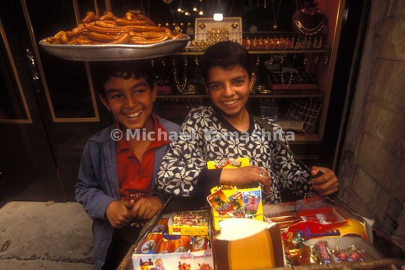 Children selling candy in Baghdad, Iraq.
