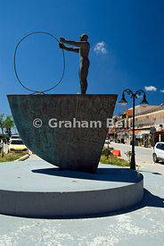 Sculpture, lixouri, kefalonia, Ionian Islands, Greece.