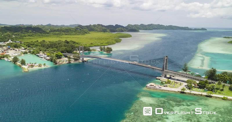 Hyperlapse of Main bridge in Palau connecting the main island and airport with the commercial hub of Koror.