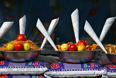 Artful presentation at a stall in the Tibetan market, Udaipur, Rajasthan, India