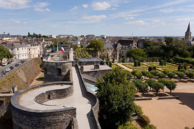 Photo de la muraille du chateau d angers