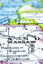 warsaw on map